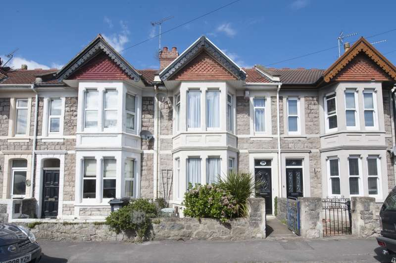 3 Bedrooms Terraced House for sale in Amberey Road, Weston-super-mare, Somerset, BS23