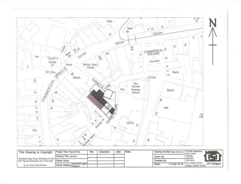 Land Commercial for sale in Former British Legion Gurneys Lane, Camborne, TR14