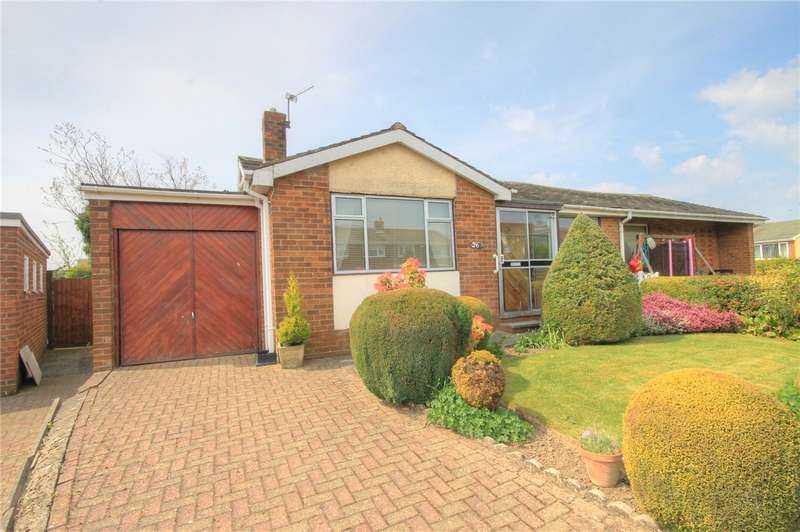 2 Bedrooms Semi Detached Bungalow for sale in Douai Drive, Delves Lane, Consett, DH8