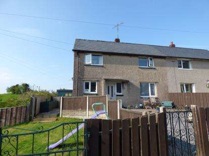 2 Bedrooms Semi Detached House for sale in Maes Llydan, Capel Garmon, Llanrwst, Conwy, LL26