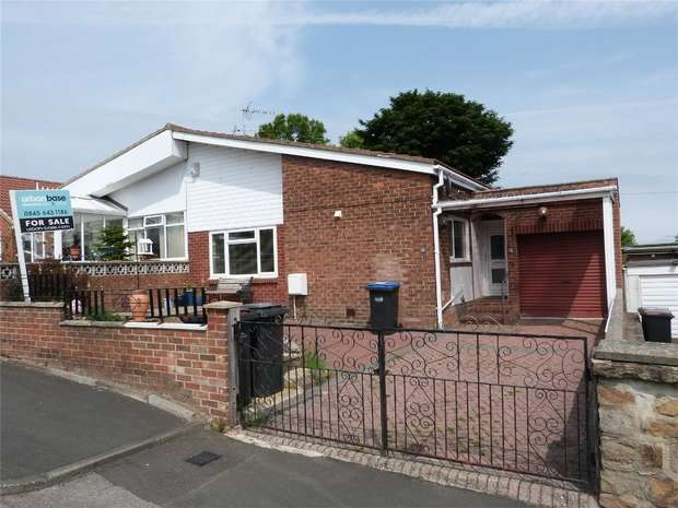 2 Bedrooms Semi Detached Bungalow for sale in Midhill Close, Brandon, Durham