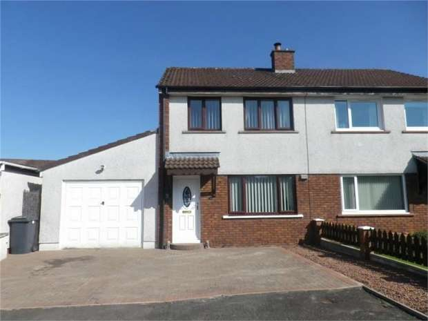 3 Bedrooms Semi Detached House for sale in Argyll Drive, Heathhall, Dumfries