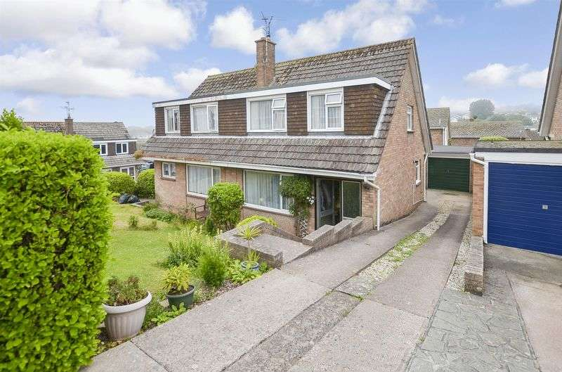 3 Bedrooms Semi Detached House for sale in Underidge Close, Paignton