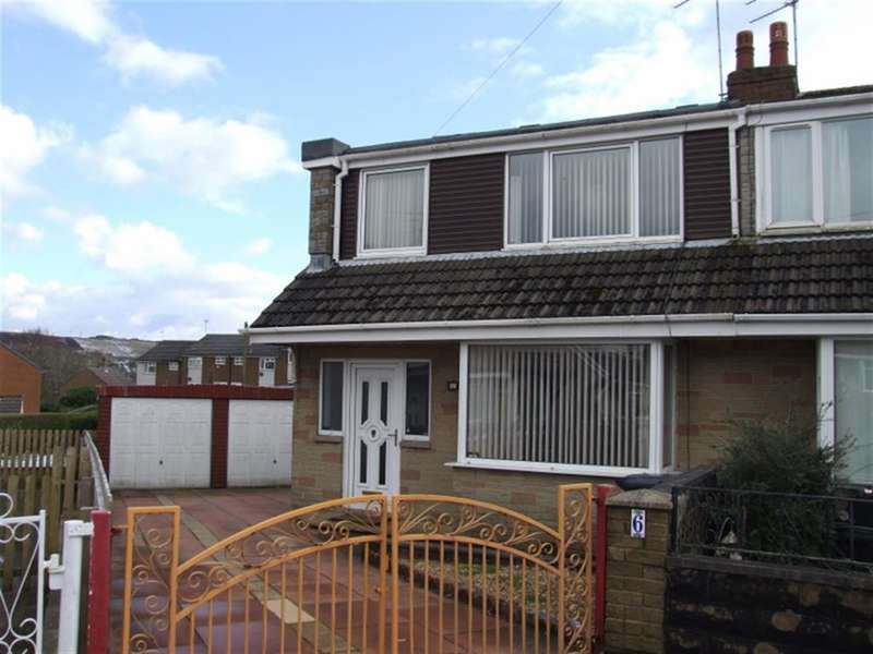 3 Bedrooms Semi Detached House for sale in School Crescent, Bradshaw, Halifax, HX2 9QR