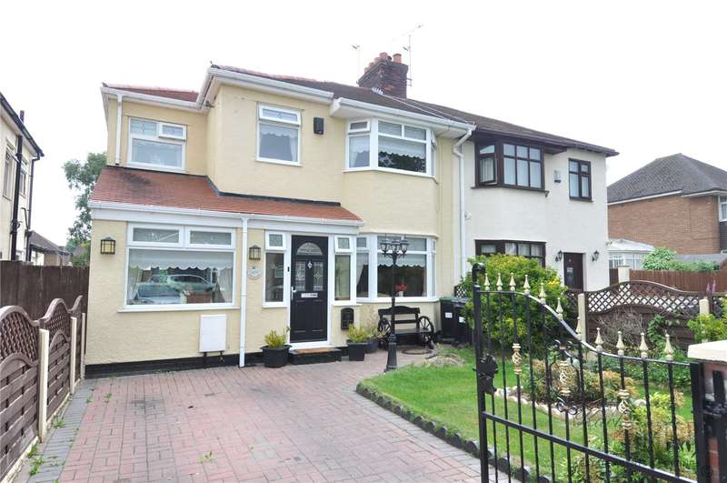 4 Bedrooms Semi Detached House for sale in Wood Lane, Greasby, Wirral