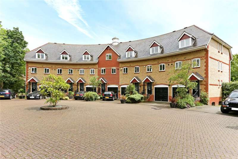 4 Bedrooms Terraced House for sale in Admiral Stirling Court, Weystone Road, Weybridge, Surrey, KT13