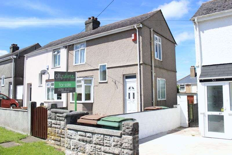 2 Bedrooms Semi Detached House for sale in Queens Road, West Park, Plymouth