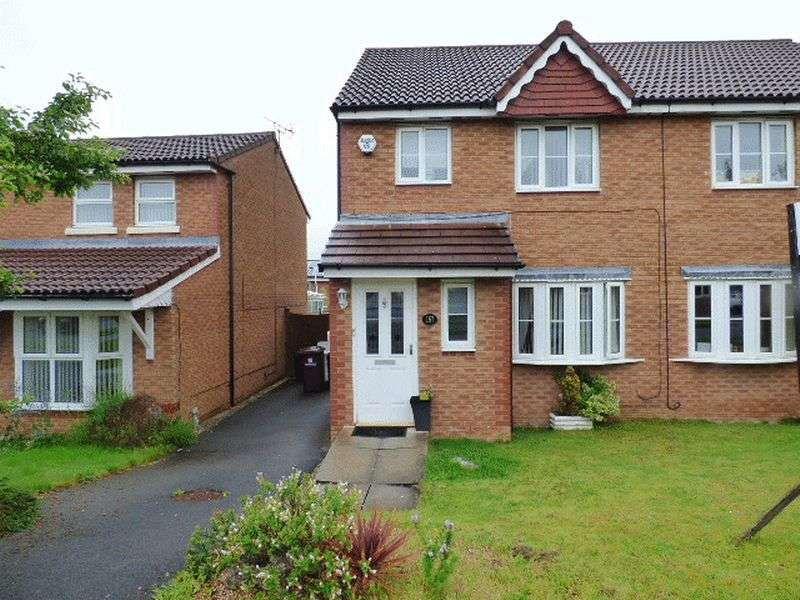 3 Bedrooms Semi Detached House for sale in Saxon Way,Kirkby