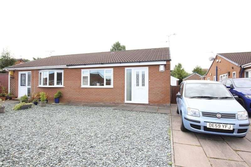 2 Bedrooms Semi Detached Bungalow for sale in Stanmore Park, Greasby, Wirral