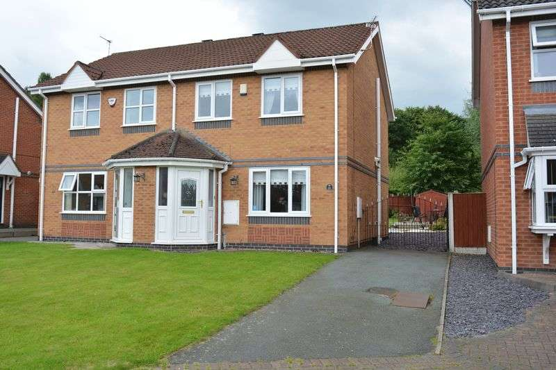 3 Bedrooms Semi Detached House for sale in Tetchill Close, Primrose Brook