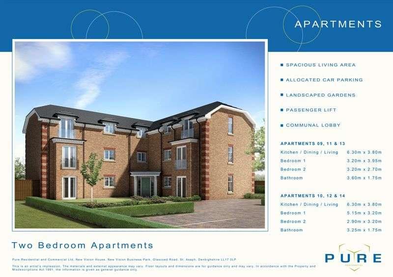 2 Bedrooms Flat for sale in Plot 14, Llys Chatsworth, Prestatyn