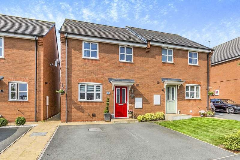 3 Bedrooms Semi Detached House for sale in Hatherton Avenue, Brindley Village, Stoke-On-Trent, ST6