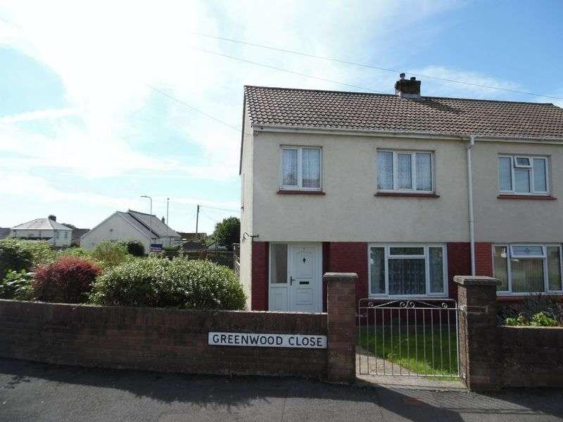 3 Bedrooms Semi Detached House for sale in Greenwood Close Litchard Bridgend CF31 1PJ