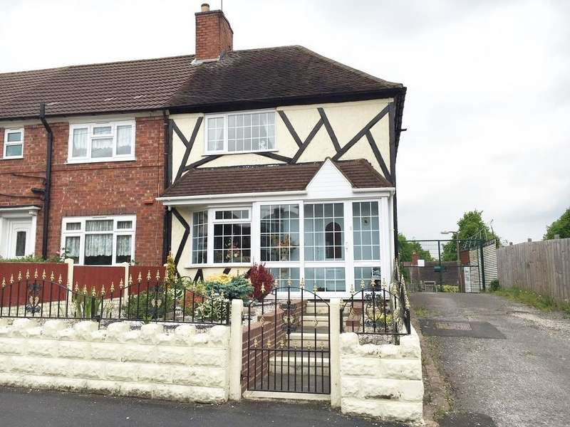 3 Bedrooms End Of Terrace House for sale in COBHAM ROAD, FRIAR PARK, WEDNESBURY, WEST MIDLANDS, WS10 0JH