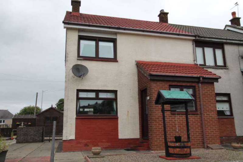 2 Bedrooms End Of Terrace House for sale in Robert Burns Court, Beith
