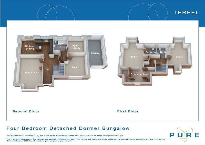 4 Bedrooms Detached Bungalow for sale in Plot 41, Livingstone Place, St. Asaph