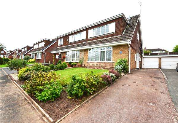 2 Bedrooms Semi Detached House for sale in Pembroke Drive, Westlands, Newcastle-under-Lyme