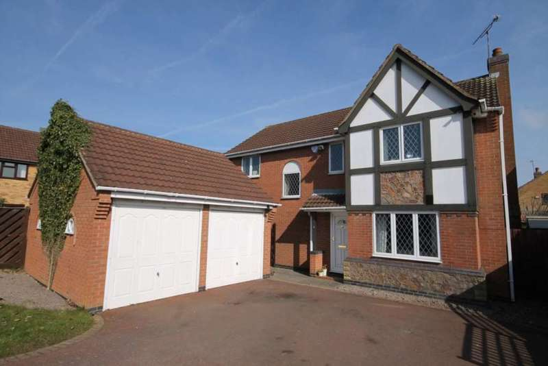 4 Bedrooms Detached House for sale in Copse Close, Leicester Forest East