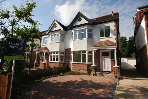 4 Bedrooms Semi Detached House for sale in Strawberry Vale, Twickenham