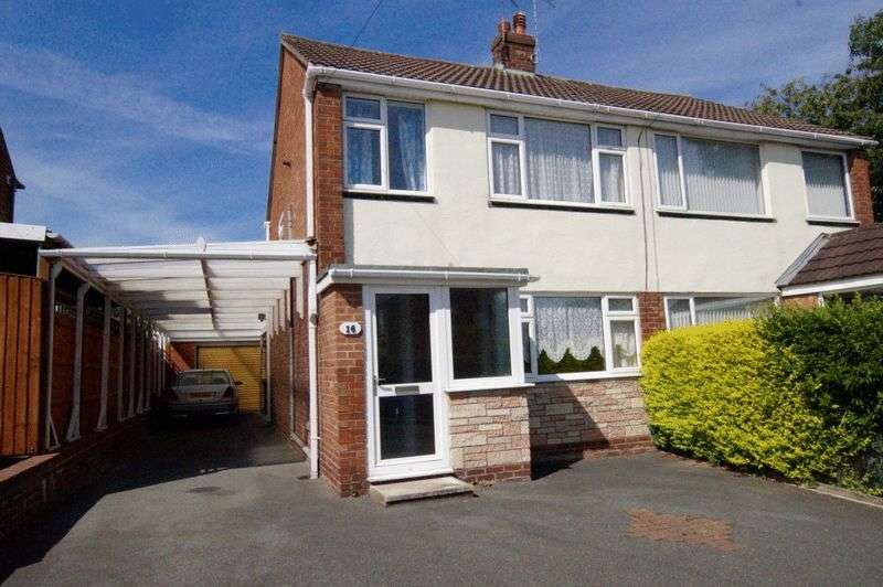 3 Bedrooms Semi Detached House for sale in Oak Close, Summerhill, Wrexham