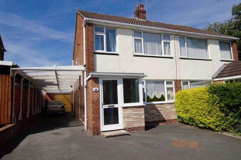 3 Bedrooms Semi Detached House for sale in Oak Close, Summerhill, Wrexham