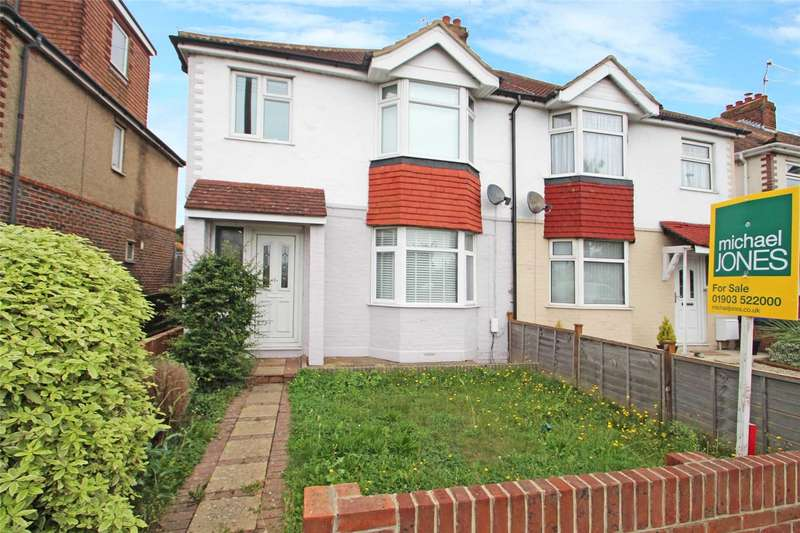 3 Bedrooms Semi Detached House for sale in Upper Brighton Road, Lancing, West Sussex, BN15