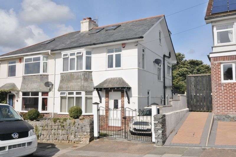 5 Bedrooms Semi Detached House for sale in Torland Road, Hartley, Plymouth. A large & stylish 5 bed extended family home with large garden.