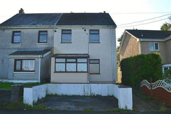 2 Bedrooms Semi Detached House for sale in Ty Newydd Terrace, East Carmarthenshire, Crosshands