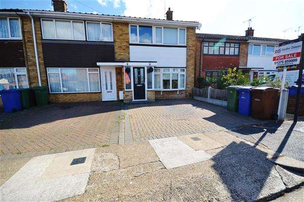 3 Bedrooms End Of Terrace House for sale in Coleridge Road, Tilbury