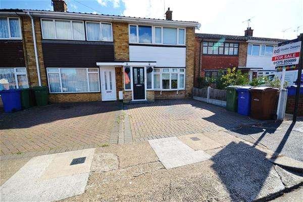 3 Bedrooms End Of Terrace House for sale in Coleridge Road, Tilbury