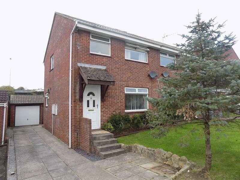 3 Bedrooms Semi Detached House for sale in The Spinney , Brackla, Bridgend. CF31 2JE
