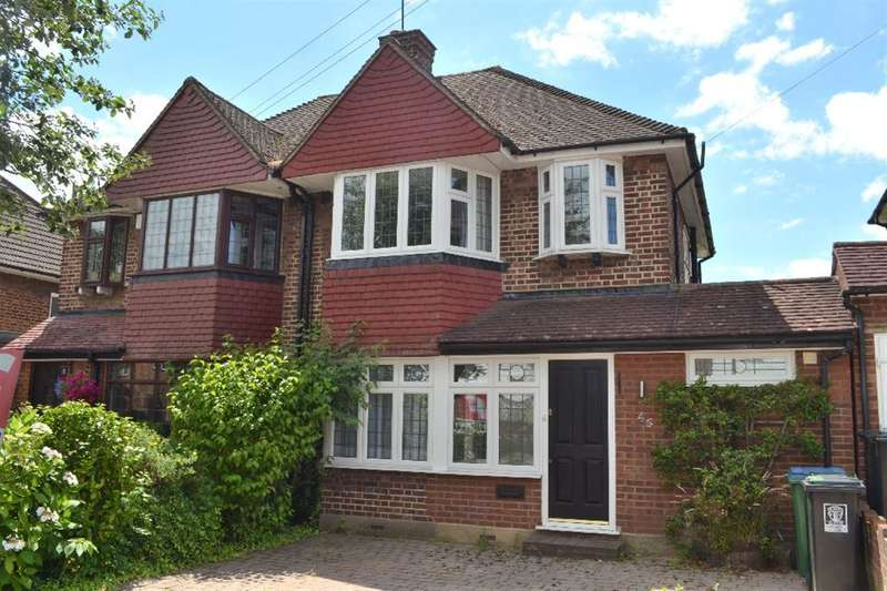 3 Bedrooms Semi Detached House for sale in Woodhurst Avenue, Watford, Herts, WD25