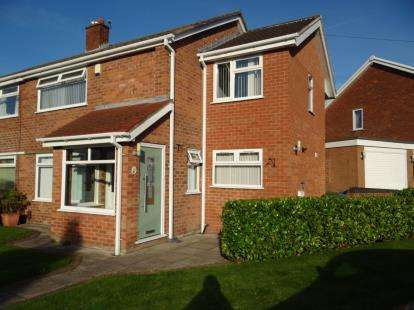 3 Bedrooms Semi Detached House for sale in Haslemere Drive, Penketh, Warrington, Cheshire