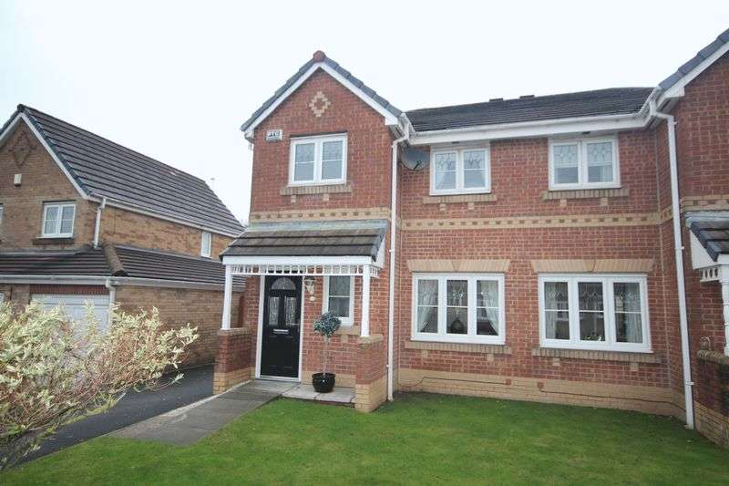 3 Bedrooms Semi Detached House for sale in CROSSBROOK WAY, Milnrow, Rochdale OL16 3HD