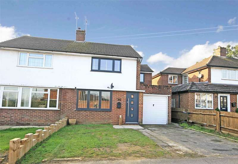 3 Bedrooms Semi Detached House for sale in Kingston Rise, New Haw, Addlestone, Surrey, KT15