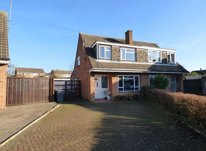 3 Bedrooms Semi Detached House for sale in Quantock Close, Bedford, MK41 9EW