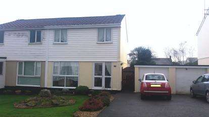 3 Bedrooms Semi Detached House for sale in Roche, St. Austell, Cornwall