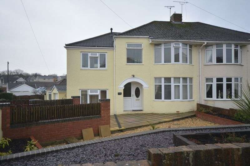 4 Bedrooms Semi Detached House for sale in Oaklands Rise, Bridgend