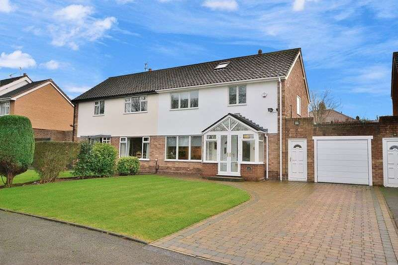 3 Bedrooms Semi Detached House for sale in Highfield Avenue, Appleton, Cheshire