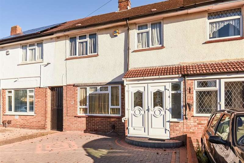 3 Bedrooms Terraced House for sale in Rushdene Crescent, Northolt, UB5