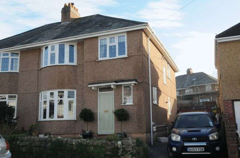 4 Bedrooms Semi Detached House for sale in Lyndrick Road, Hartley, Plymouth. A fabulous 4 bedroomed 1930's semi detached family home with lovely garden.