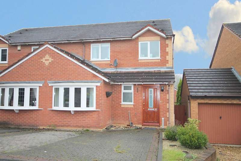 3 Bedrooms Semi Detached House for sale in The Lair, Birchmoor, Tamworth, B78 1BA