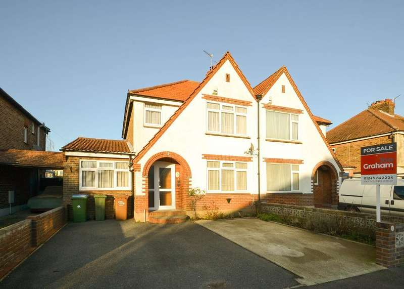 4 Bedrooms Semi Detached House for sale in Central Avenue, North Bersted, Bognor Regis, West Sussex, PO21 5HT