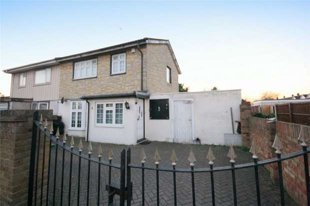 3 Bedrooms Semi Detached House for sale in Longford Avenue, Stanwell, Staines-upon-Thames, Surrey