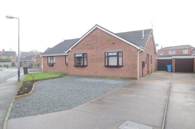 2 Bedrooms Semi Detached Bungalow for sale in Repton Drive, Sutton on Hull, Hull, HU7 4UQ