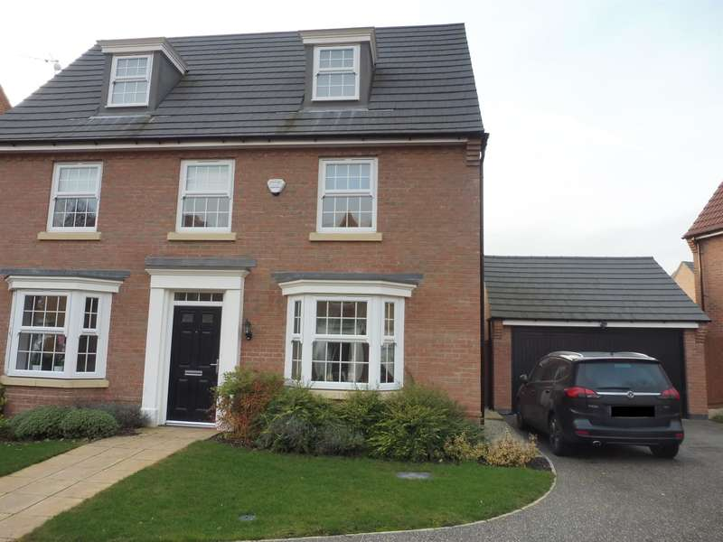 5 Bedrooms Detached House for sale in Marron Court, Fernwood, Newark, NG24