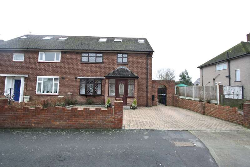 4 Bedrooms Semi Detached House for sale in Tamar Drive, South Ockendon