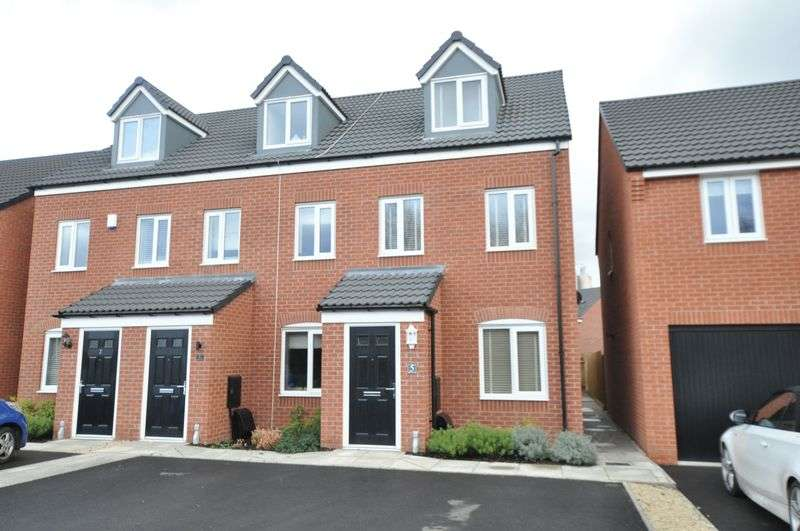 3 Bedrooms Semi Detached House for sale in Adkins Close, Stretton