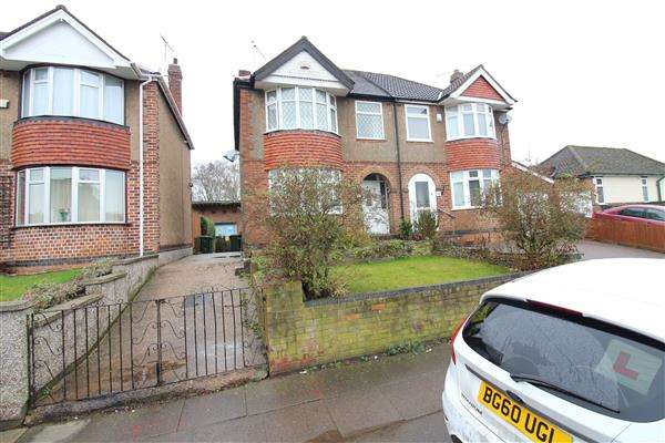 3 Bedrooms Semi Detached House for sale in Ashington Grove, Whitley, Coventry