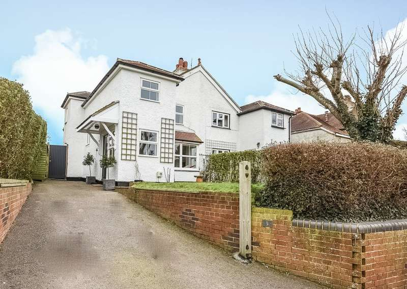 3 Bedrooms Semi Detached House for sale in Hillside Cottages, Downs Road, West Stoke, Nr Chichester, PO18